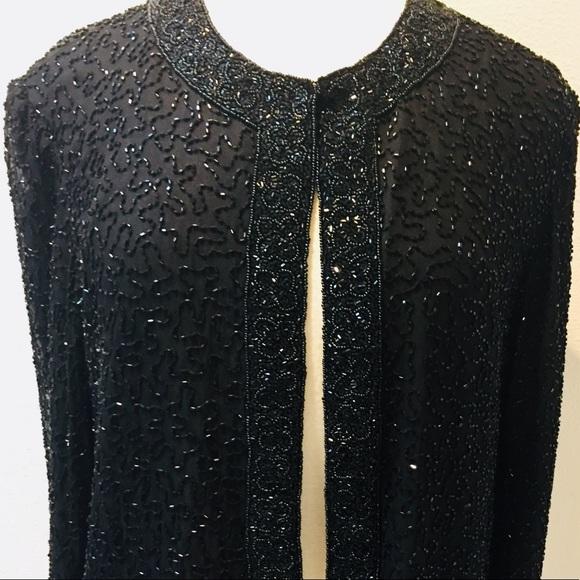 MARINA Jackets & Blazers - NWT Black Beaded Detailed Statement Dress Jacket